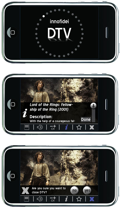 User Interface Design for Digital TV App (2007)