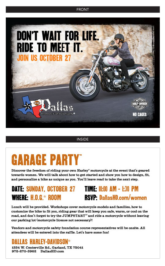 Garage Party Invite